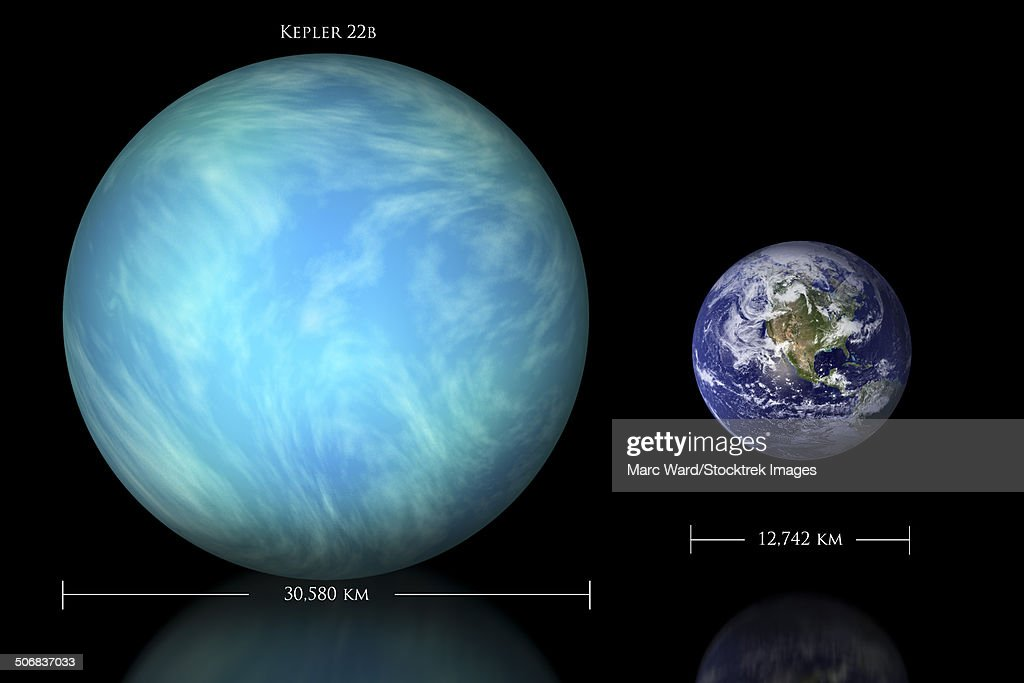 Artists Depiction Of The Difference In Size Between Earth