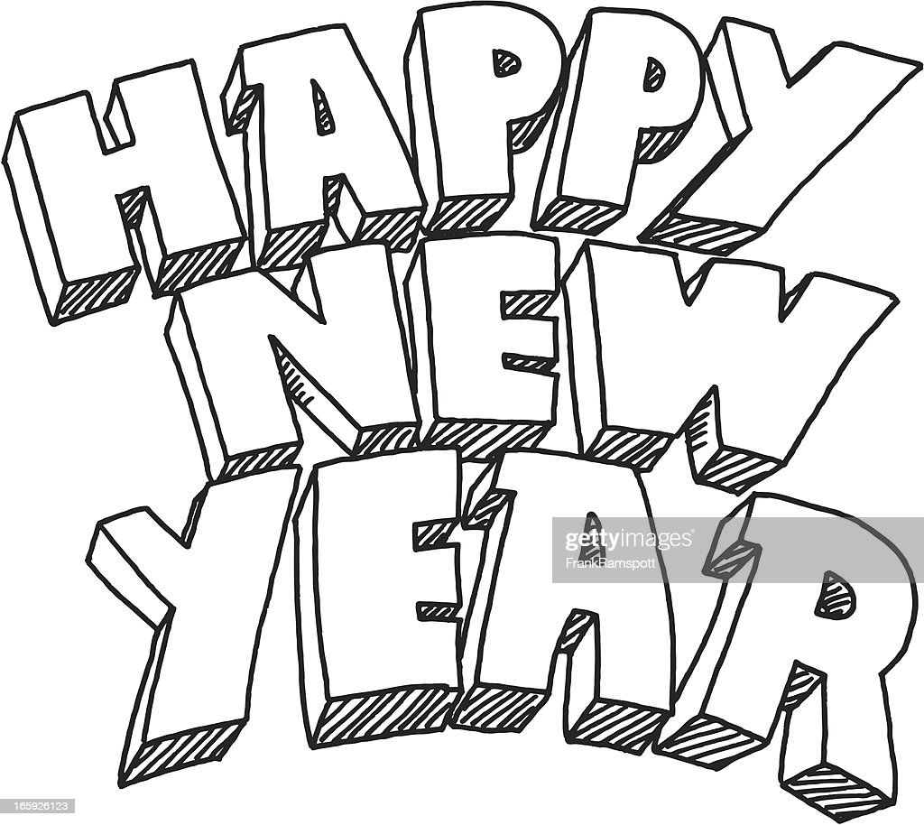 happy new year drawing pictures