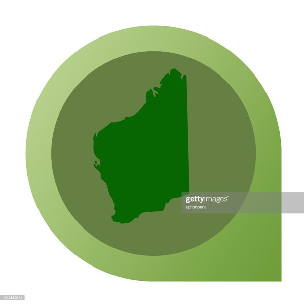 Isolated Western Australia Map Marker Pin Stock Illustration   Getty     Isolated Western Australia map marker pin   Stock Illustration