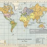 Map Prevailing Religions Of The World High Res Vector Graphic Getty Images
