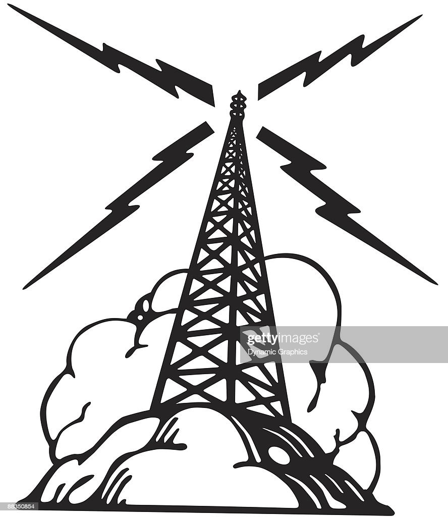 Microwave radio tower clip art search cliparts images