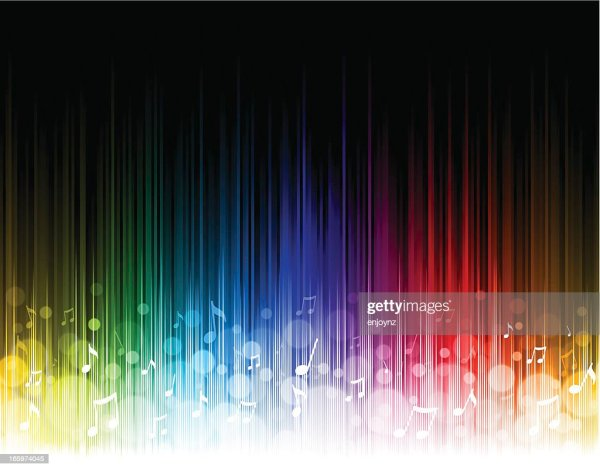 Seamless Rainbow Music Background Vector Art | Getty Images