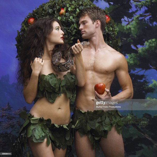 Adam And Eve In Garden Of Eden Stock Photo | Getty Images