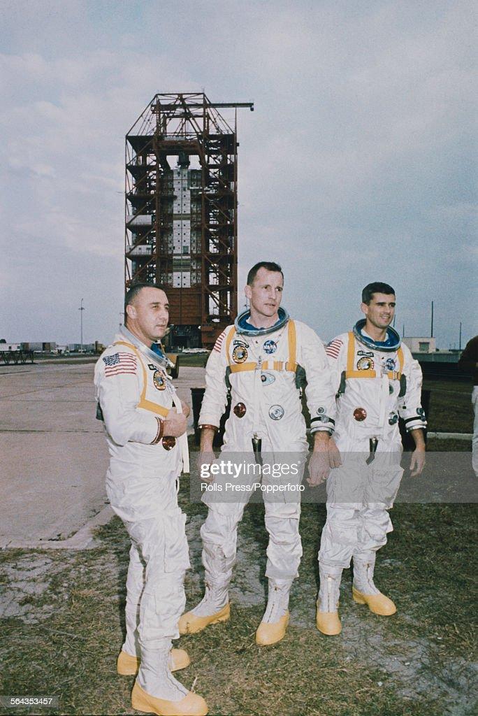 American astronauts and crew of the Apollo 1 mission ...