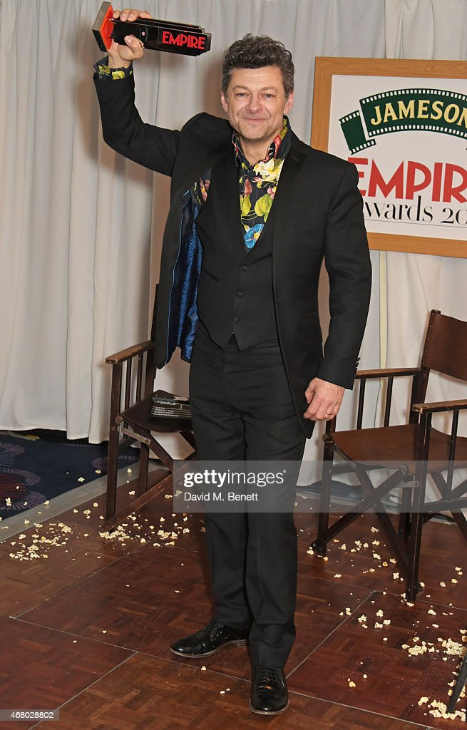 Andy Serkis, winner of the Jameson Best Actor award, poses ...