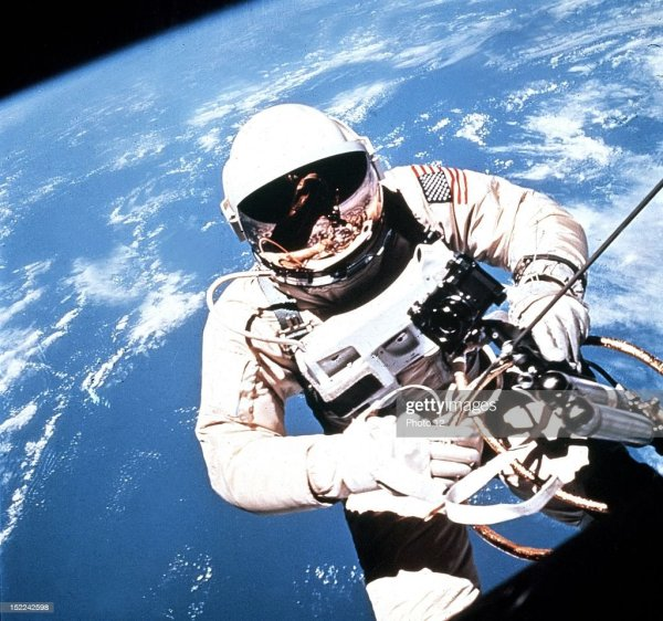 Astronaut Edward White in Extravehicular Activity, during ...