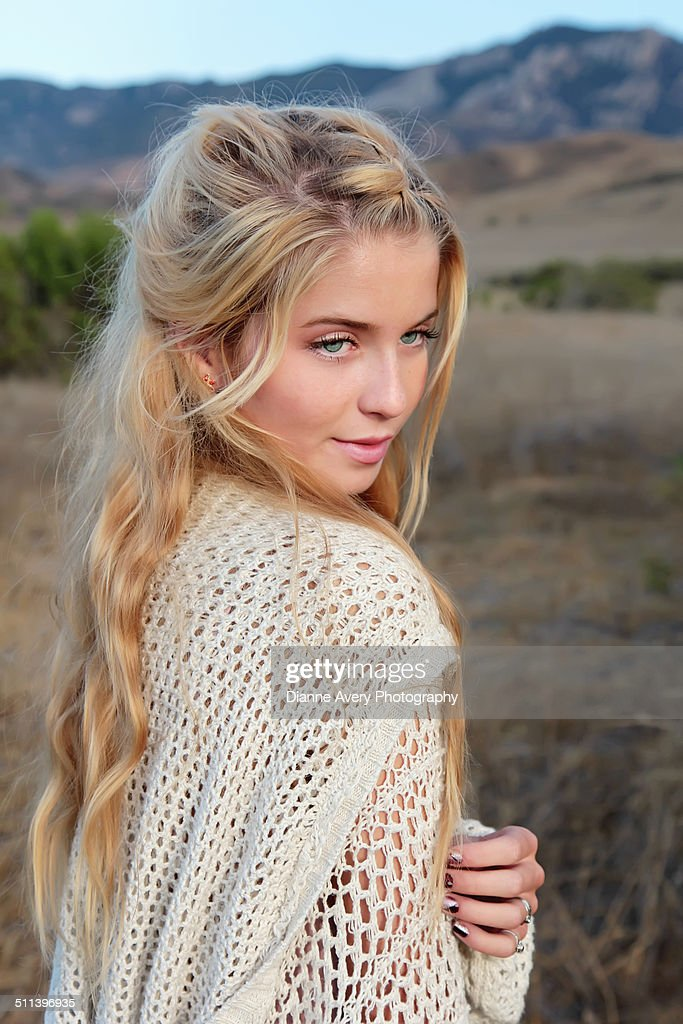 Beautiful Teen Looking Over Shoulder High-Res Stock Photo ... on Beautiful Teen  id=89757