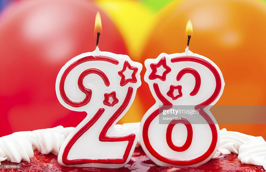 Cake For 28th Birthday Stock Photo Getty Images