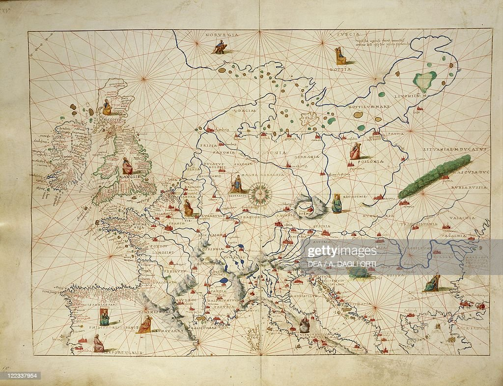 Europe  from Atlas of the World in thirty three Maps  by Battista     Europe  from Atlas of the World in thirty three