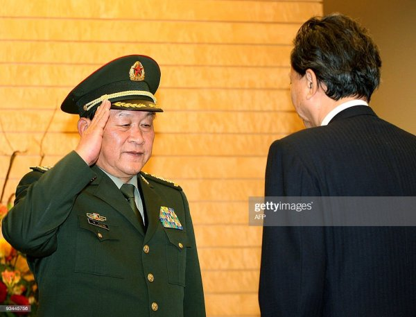 Chinese Defence Minister Liang Guanglie meets with ...