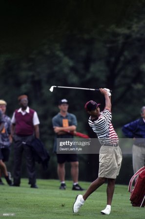 Stanford University Tiger Woods  1995 NCAA Men s Golf Championships     Stanford Tiger Woods in action  shot at Ohio State University Golf Course   Columbus