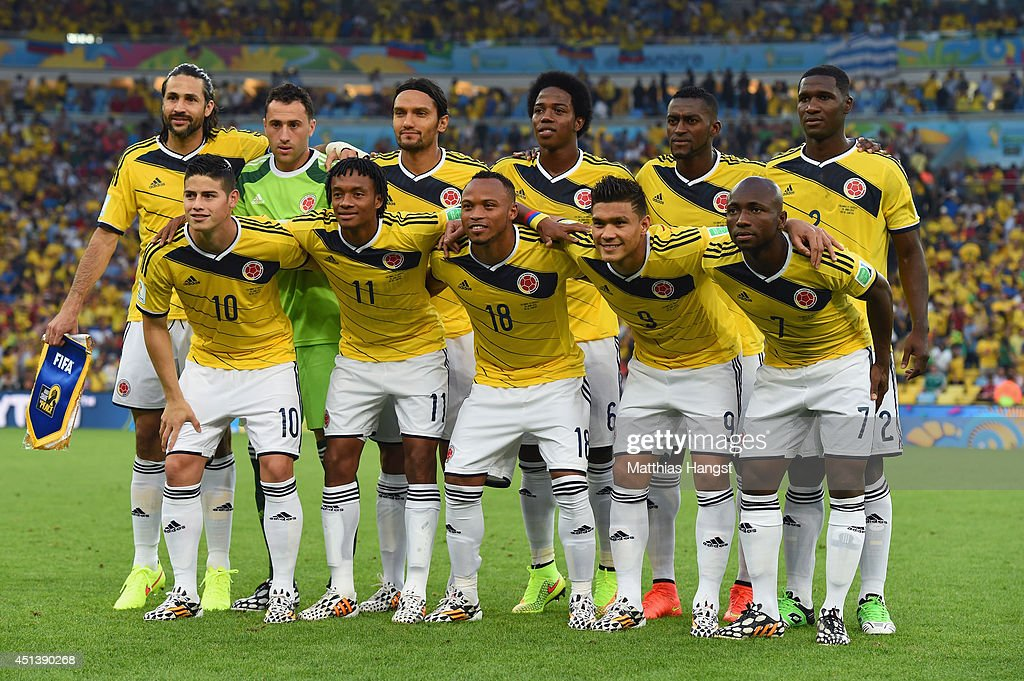 Colombia pose for a team photo prior to the 2014 FIFA ...