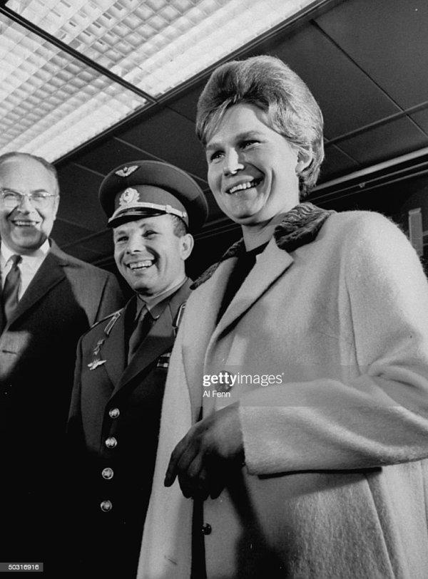 Cosmonauts Yuri Gagarin and Valentina Tereshkova , in NYC ...