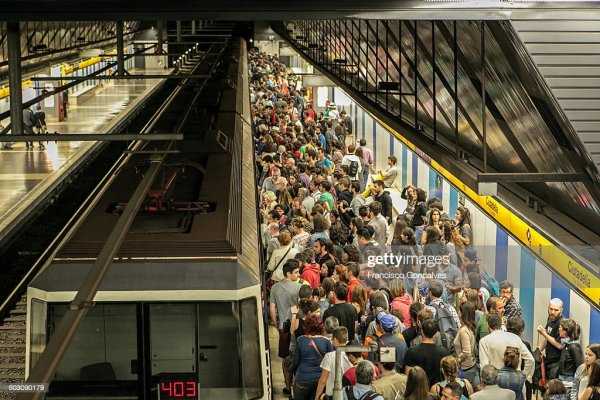 Crowded Barcelona Metro Station Stock Photo | Getty Images