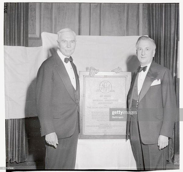 Dr. Willard H. Dow, President and Chairman of the the ...