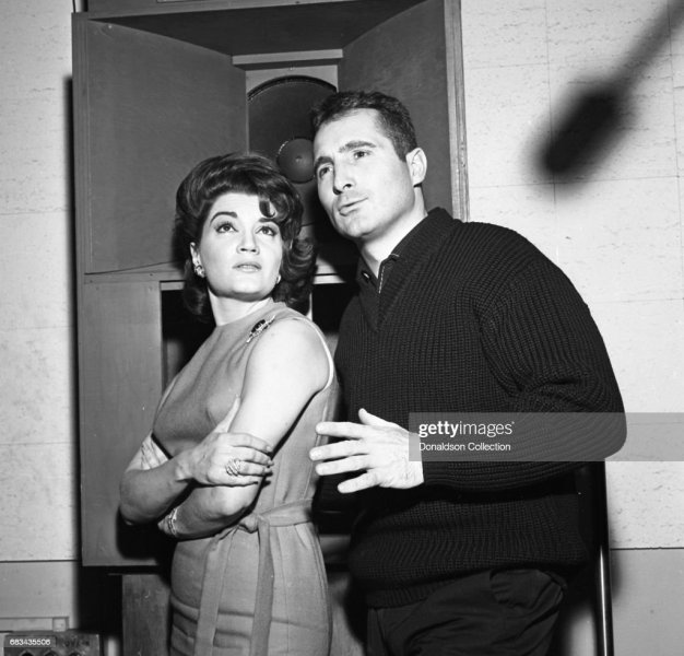 Connie Francis Recording in the Studio wthi Freddy Quinn Pictures     Connie Francis Recording in the Studio wthi Freddy Quinn
