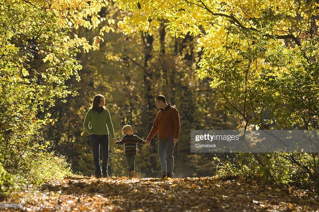 Family Walking Autumn