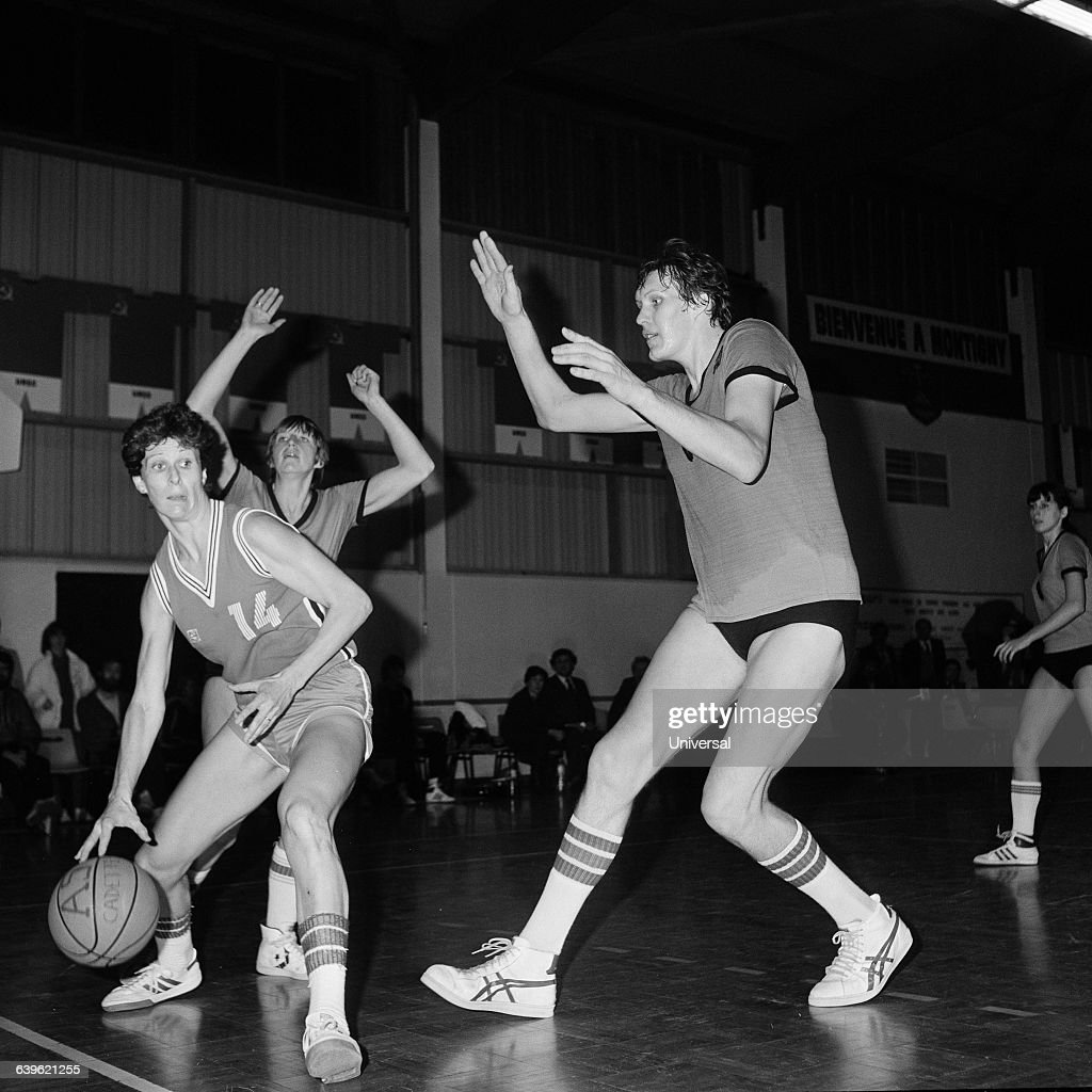 Female basketball players Quiblier-Bertal of the Asnieres ...