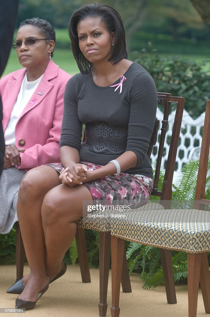 US First Lady Michelle Obama Attends A Breast Cancer