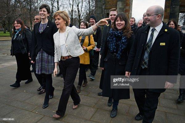 Nicola Sturgeon And SNP Party Activists Launch Election ...