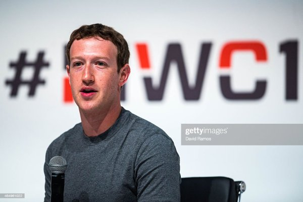 Founder and CEO of Facebook Mark Zuckerberg speaks during ...