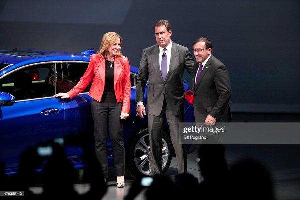 General Motors CEO Mary Barra; Alan Batey, president of GM ...