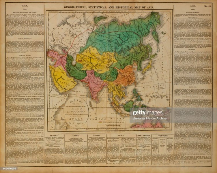 Geographical  Statistical and Historical Map of Asia  1820 Pictures     Geographical  Statistical and Historical Map of Asia  1820