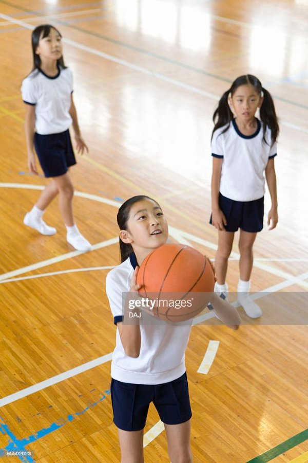 Girls Playing Basketball In Gym Stock Photo | Getty Images