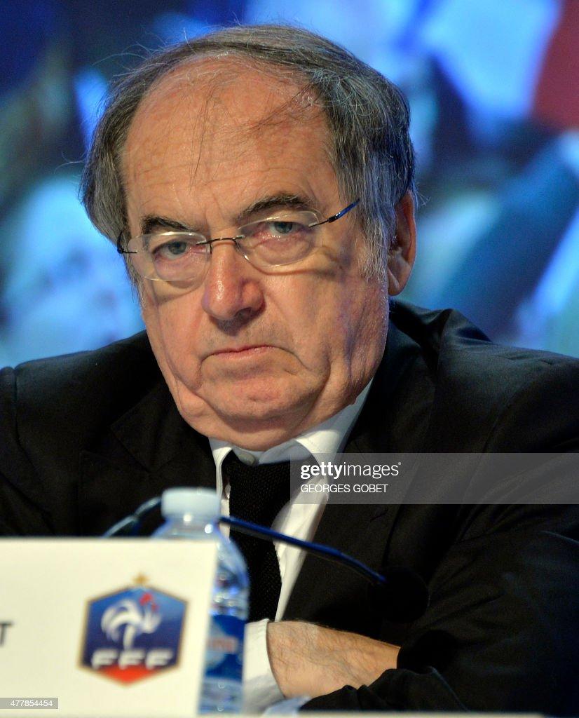 Head of French Football Federation (FFF) Noel Le Graet ...