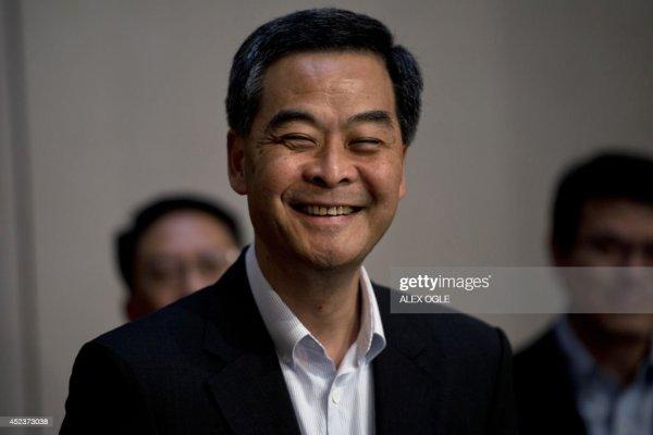 Hong Kong's Chief Executive Leung Chun-ying smiles before ...