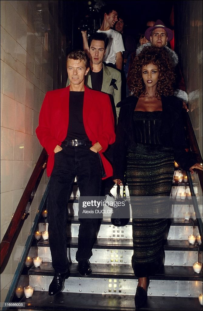 Iman And David Bowie At Les Bains Douches During A Soire Dedicated To News Photo Getty Images