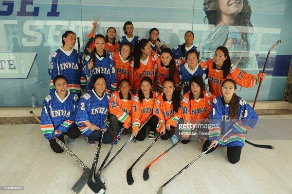 Profile Shoot Of Indian Women Ice Hockey Team Players ...