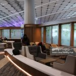 Interior Of Hong Kong Airlines Vip Lounge Club Autus At The Foto Jornalistica Getty Images