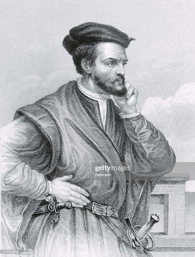 Drawing of Explorer Jacques Cartier in Pensive Position Pictures     Jacques Cartier  The Discoverer of Canada  1534  Jacques Cartier   1491