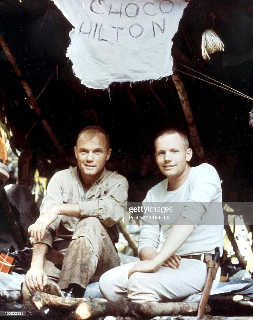 John Glenn and Neil Armstrong during survival training in ...