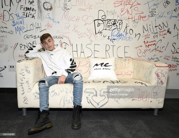 Johnny Orlando visits Music Choice on September 11, 2018 ...