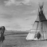 A Native American Indian Riding His Horse Past A Tepee On A Reserve News Photo Getty Images