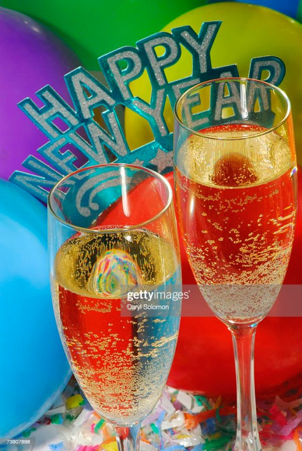 New Years Eve Champagne Closeup Stock Photo   Getty Images