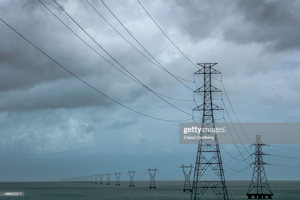 Lake Power Lines Pontchartrain