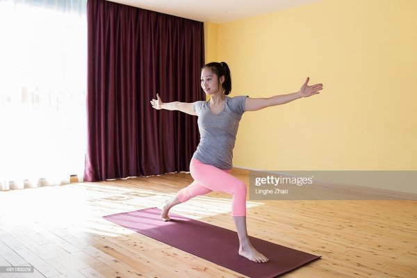 Pretty Girl Yoga Practice High-Res Stock Photo - Getty Images