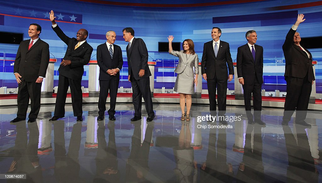 GOP Presidential Candidates Hold First Debate In Iowa ...