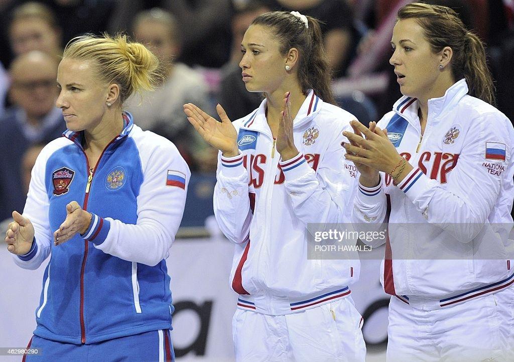 Russian tennis players Svetlana Kuznetsova, Vitalia ...