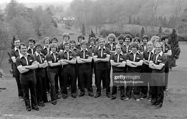 Scotland manager Ally MacLeod with his World Cup squad ...