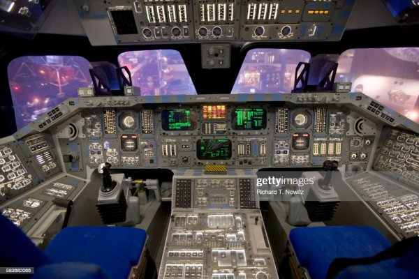 Space Shuttle Cockpit Stock Photo Getty Images