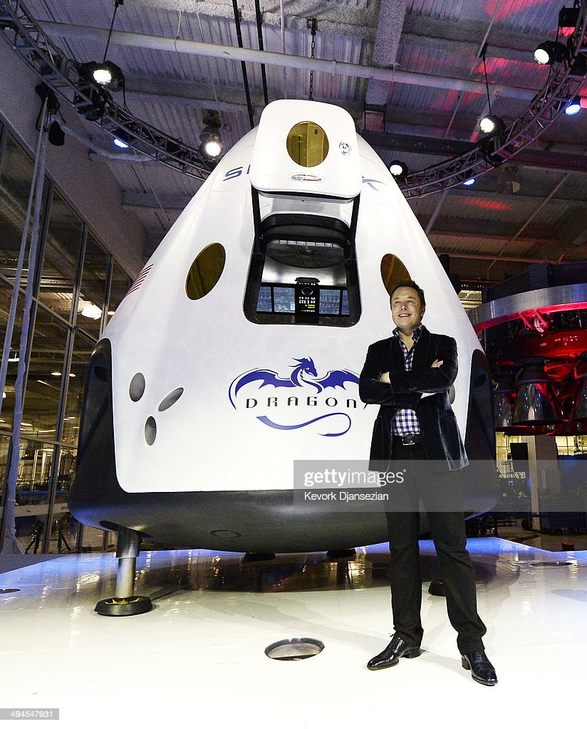 SpaceX CEO Elon Musk Unveils Company's New Manned ...