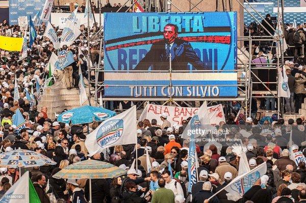 National PDL Protest 'Tutti Con Silvio' | Getty Images