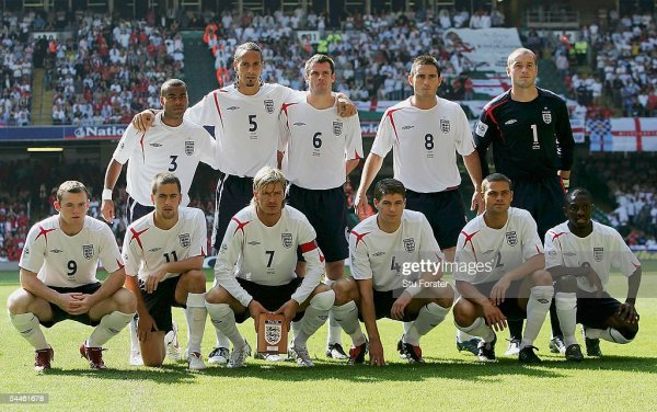 The England team group before the Fifa World Cup 2006 ...
