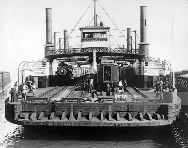 The Solano Ferry, the world's largest train ferry which ...
