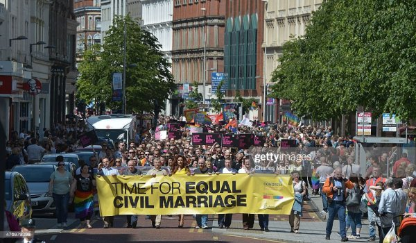 March Takes Place In Belfast For Same Sex Marriage ...