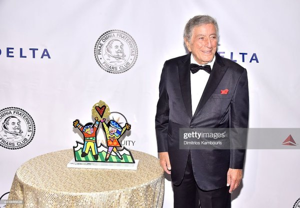 Tony Bennett attends as the Friars Club Honors Tony ...